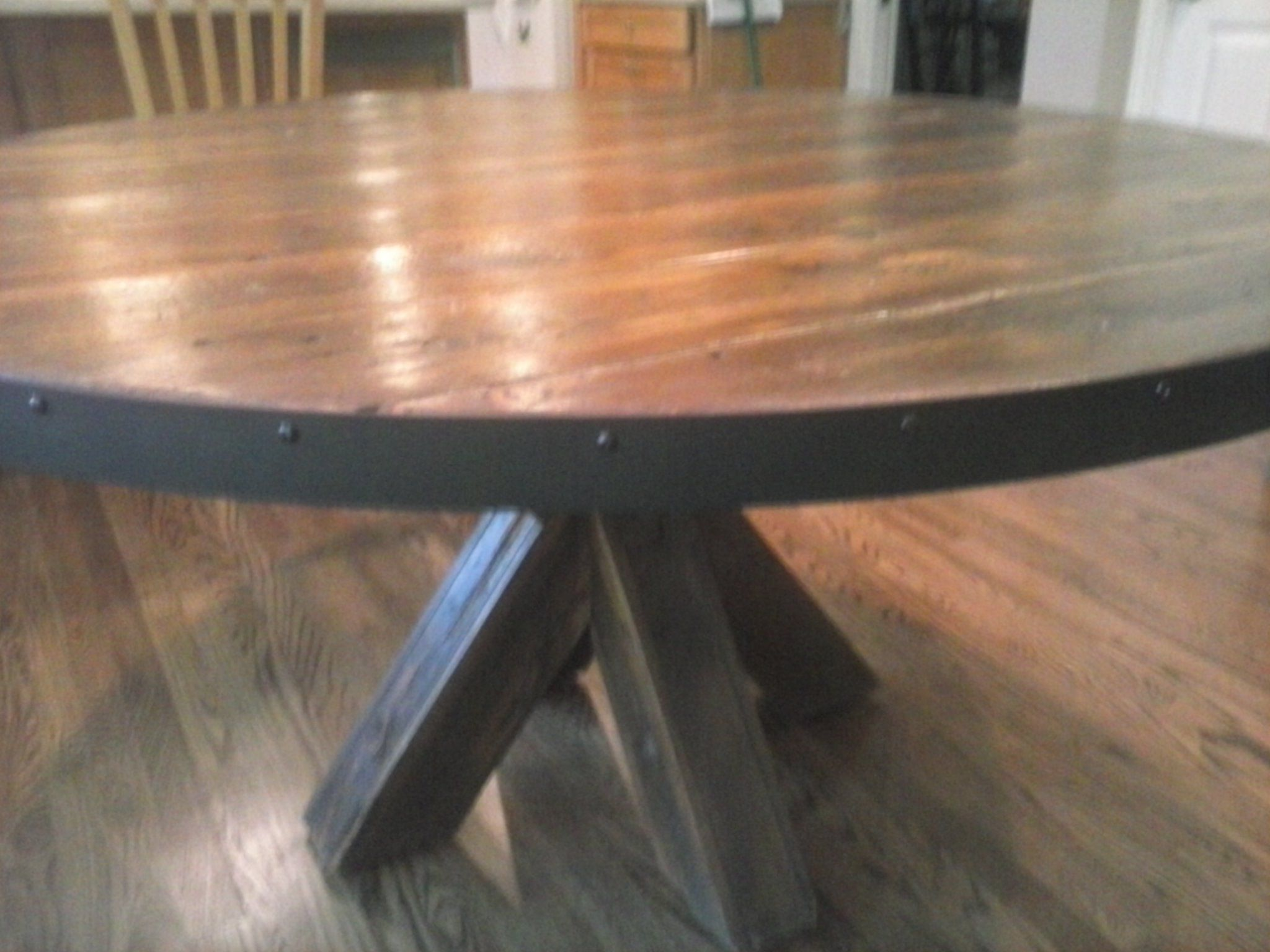 Circle Round Farmhouse Dining Table Hand Made Barn Wood Kitchen Table By Jay 39s Custom Woodwork