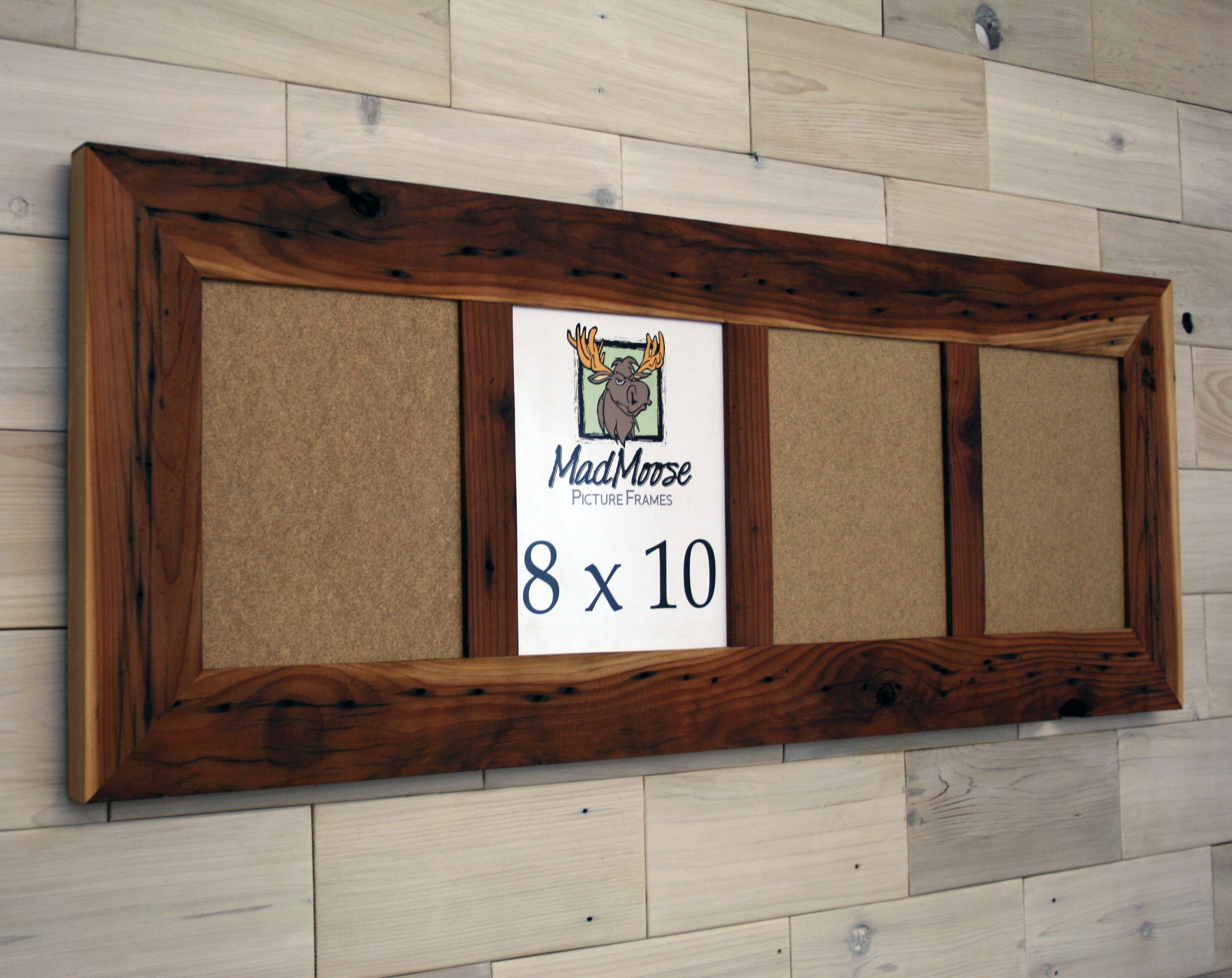 Buy Picture Frames Buy Hand Made Reclaimed Redwood Picture Frame With Four