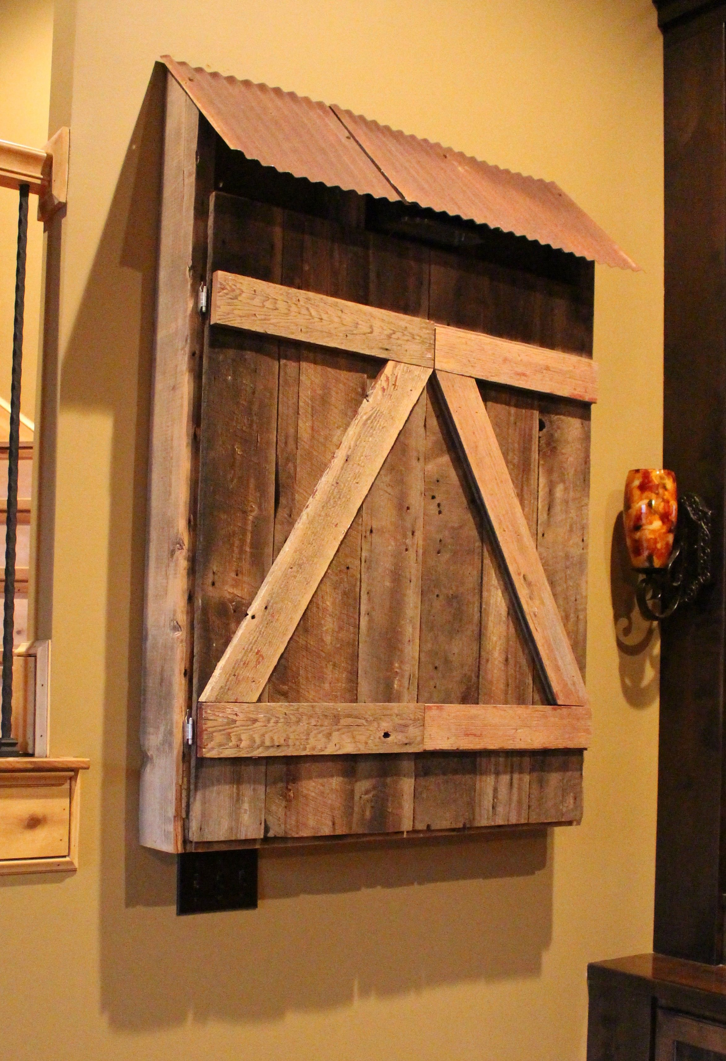 Barn Board Kitchen Cabinets Hand Crafted Barn Wood Dart Board Cabinet By Into The