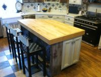 Hand Crafted Angled Butcher Block Island Top by R. A. Park ...