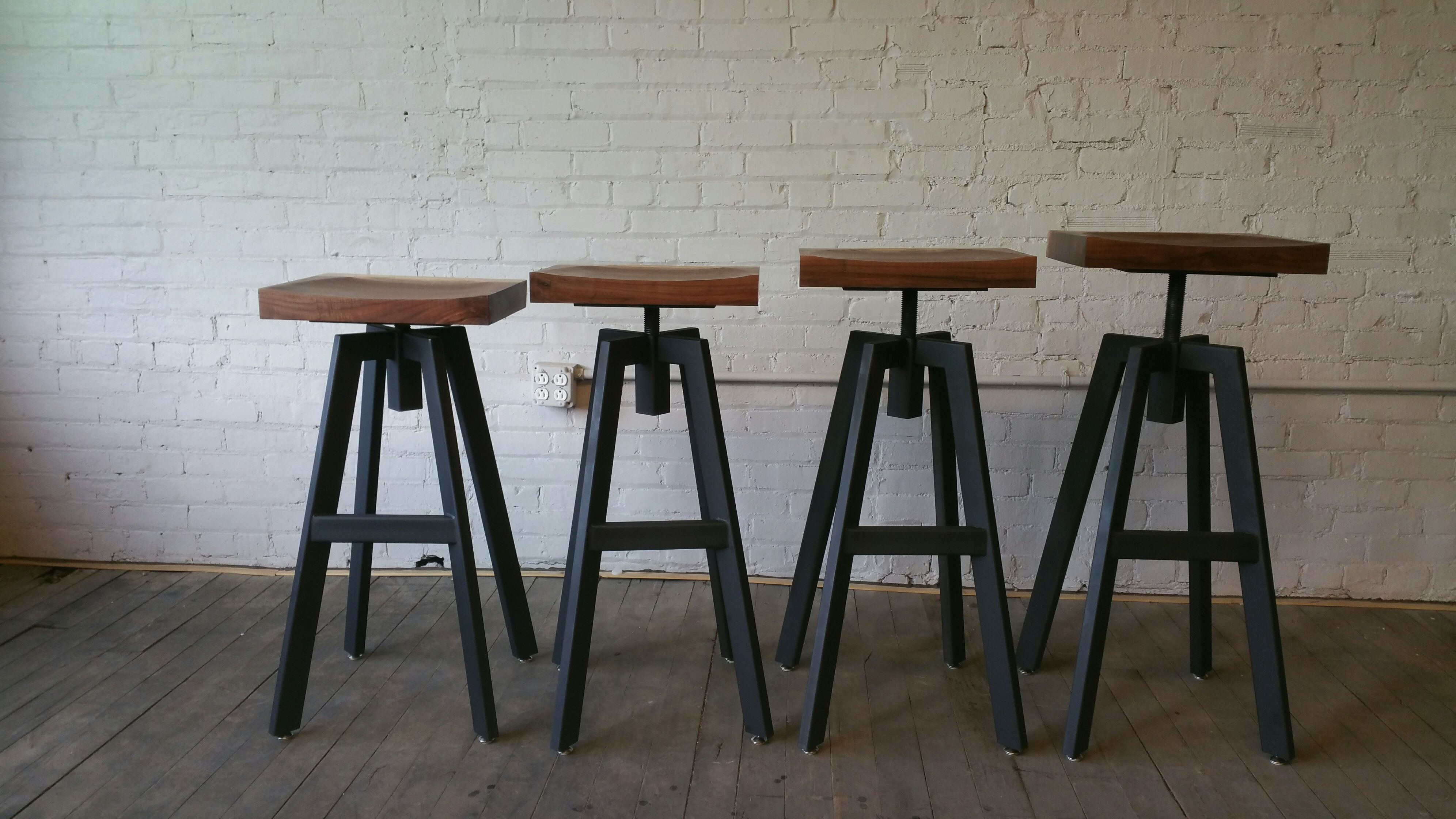 Industrial Design Bar Stools Hand Crafted Industrial Inspired Bar Stool By Donald Mee