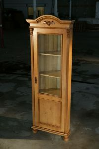 Hand Crafted European Corner Cabinet With Glass Door ...