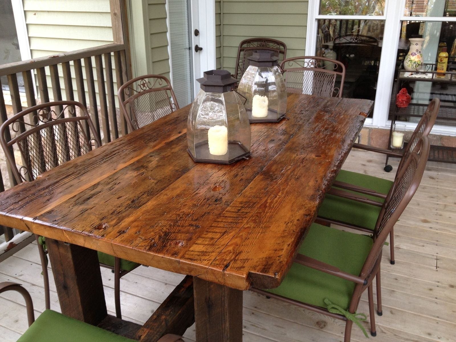 Narra Cleopatra Sala Set Philippines Hand Made Reclaimed Trestle Table By Elias Custom
