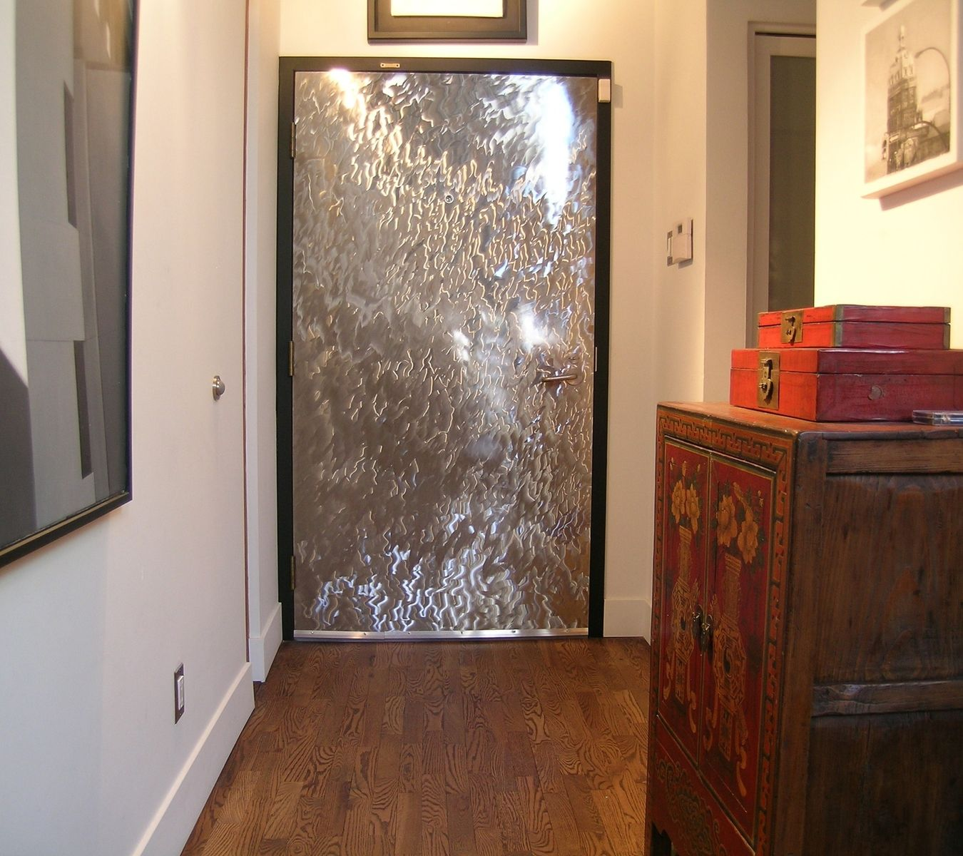 Custom Made Decorative Stainless Steel Door Facade by
