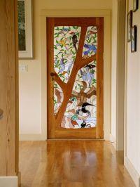 Custom Stained Glass Door - Birds by Janet Redfield ...