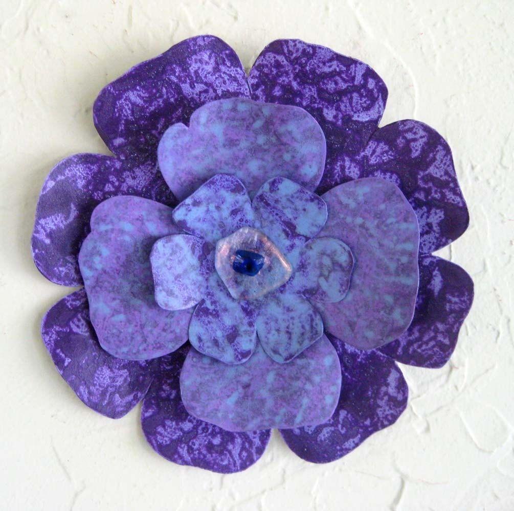 Purple Metal Wall Art