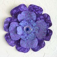 Purple Metal Wall Art | Wall Plate Design Ideas