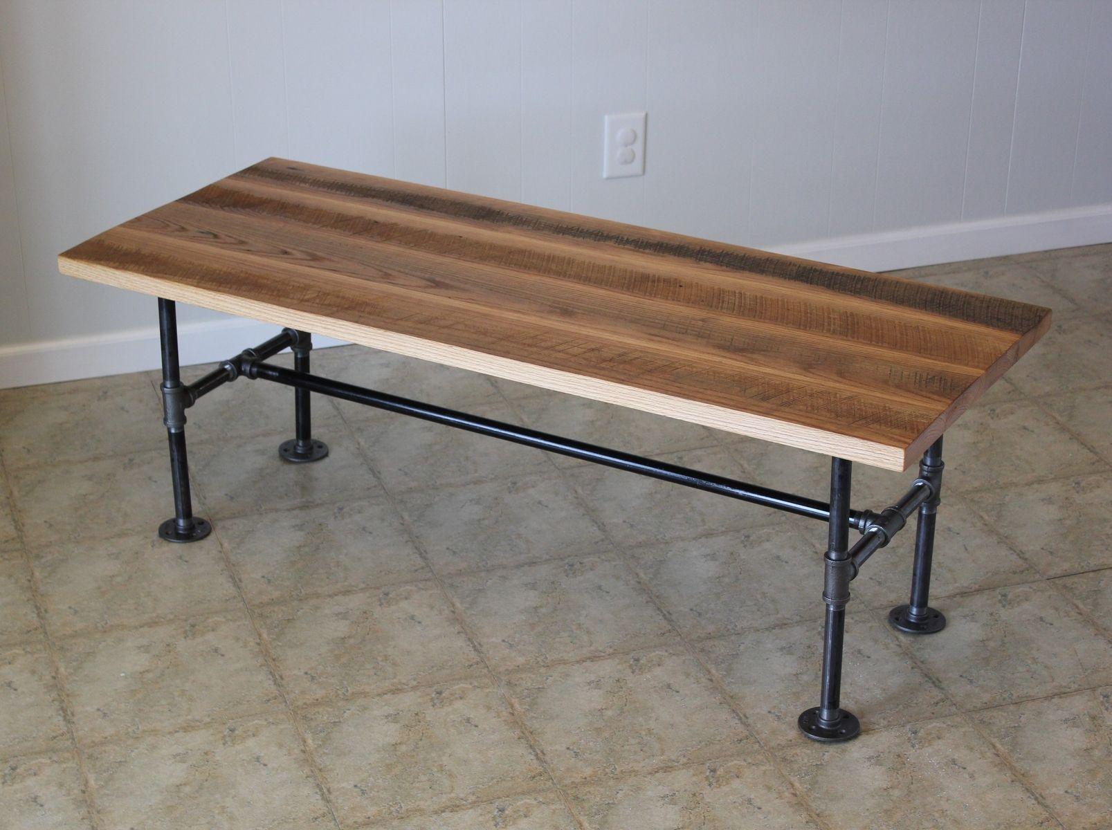 Custom Reclaimed Barn Wood Coffee Table With Industrial