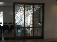 Hand Made Contemporary Clear Textured Leaded Glass by The ...