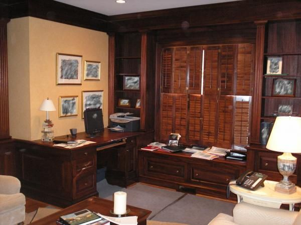 Mid Century Modern Bookcase Custom Made Mahogany Executive Office And Library By J. D