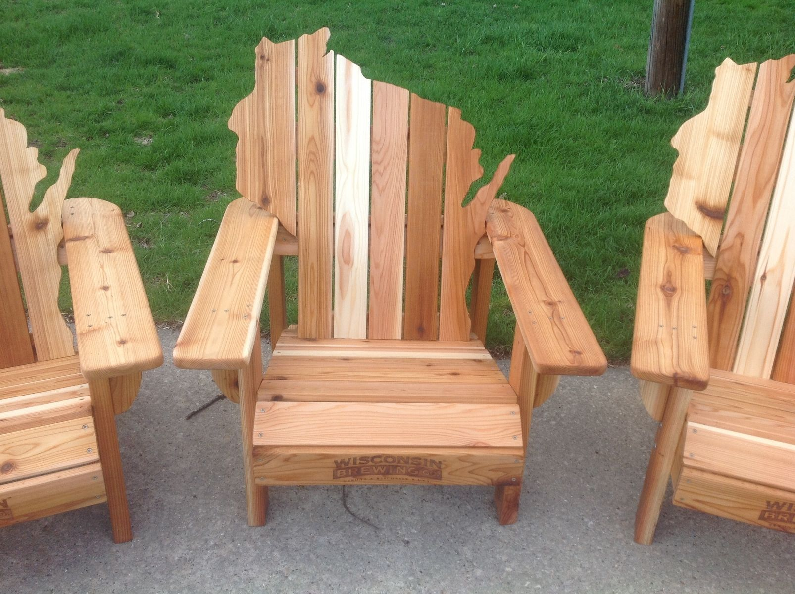 Unique outdoor wooden chair adirondack wisconsin chairs with personalized laser engraving outdoor wooden chair for designs
