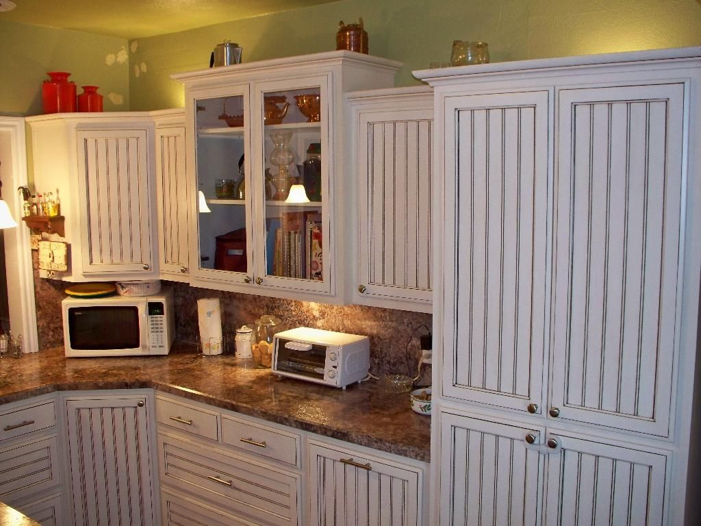 White Beadboard Kitchen Cabinets Hand Crafted White Glazed Beadboard Kitchen By Oak Tree