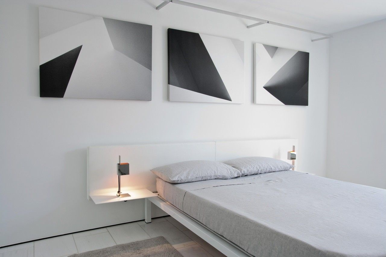 Minimal Bed Hand Made Bespoke Minimal Leather And Steel Bed Frame By