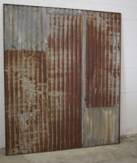 Custom Rusty Tin Sliding Barn Doors by Heirloom, LLC ...