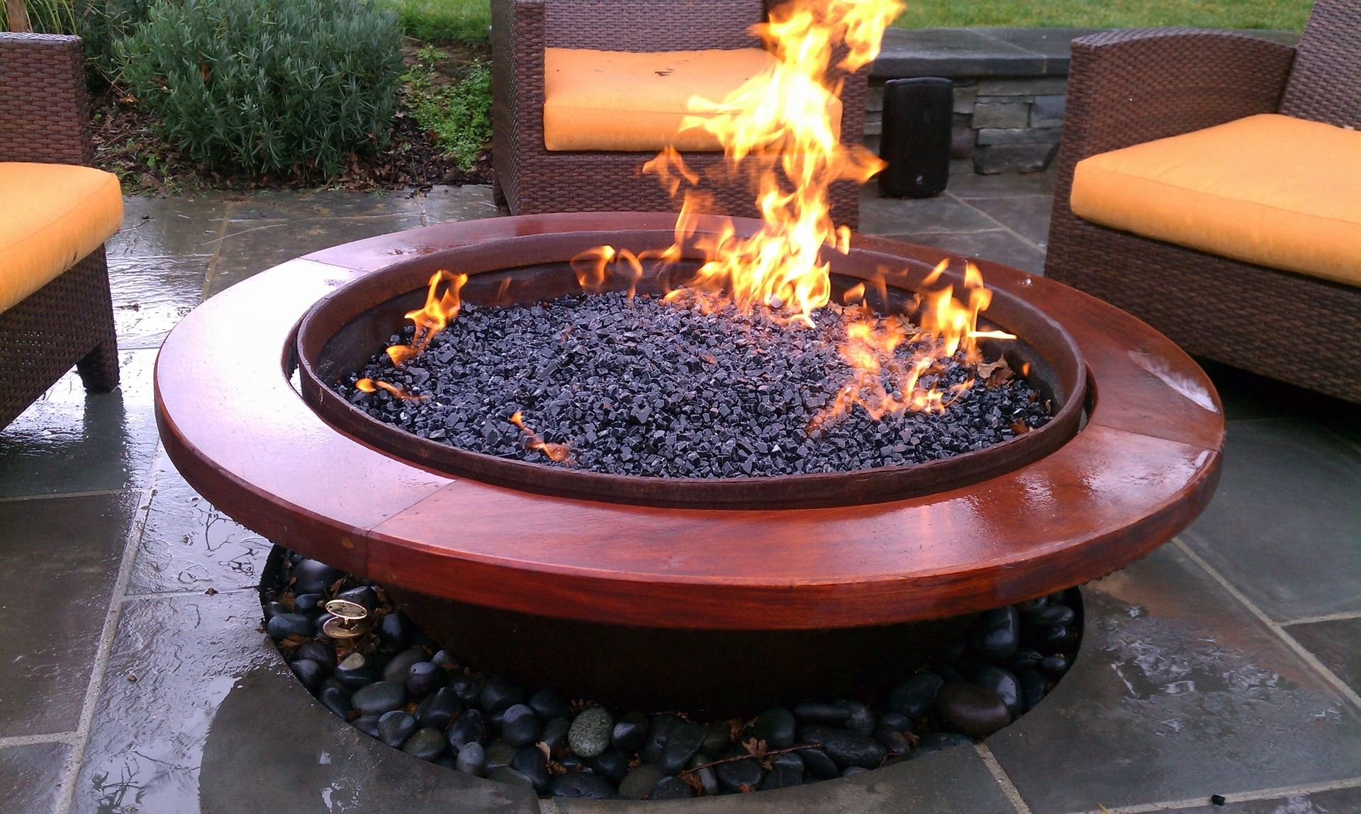 Handmade Outdoor Gas Fire Pit By Sawduststeel