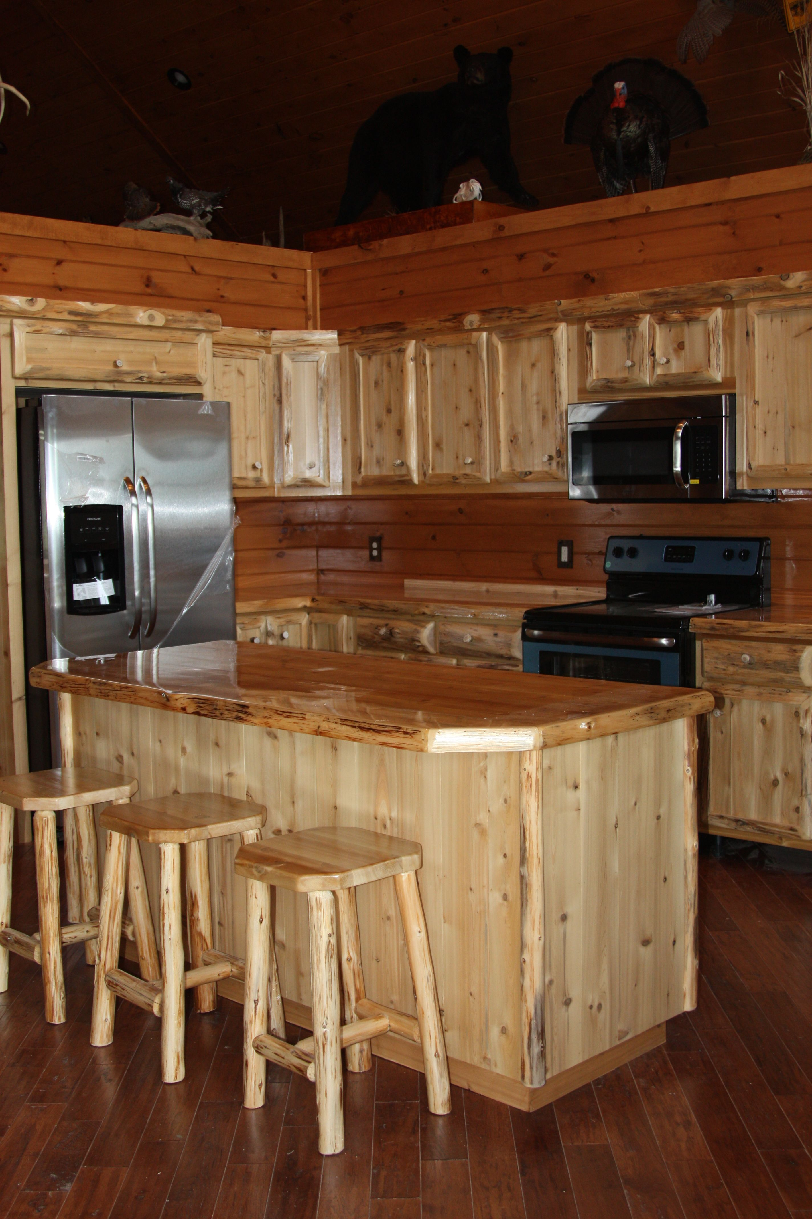Custom Made Cabinets Hand Crafted Custom Rustic Cedar Kitchen Cabinets By King