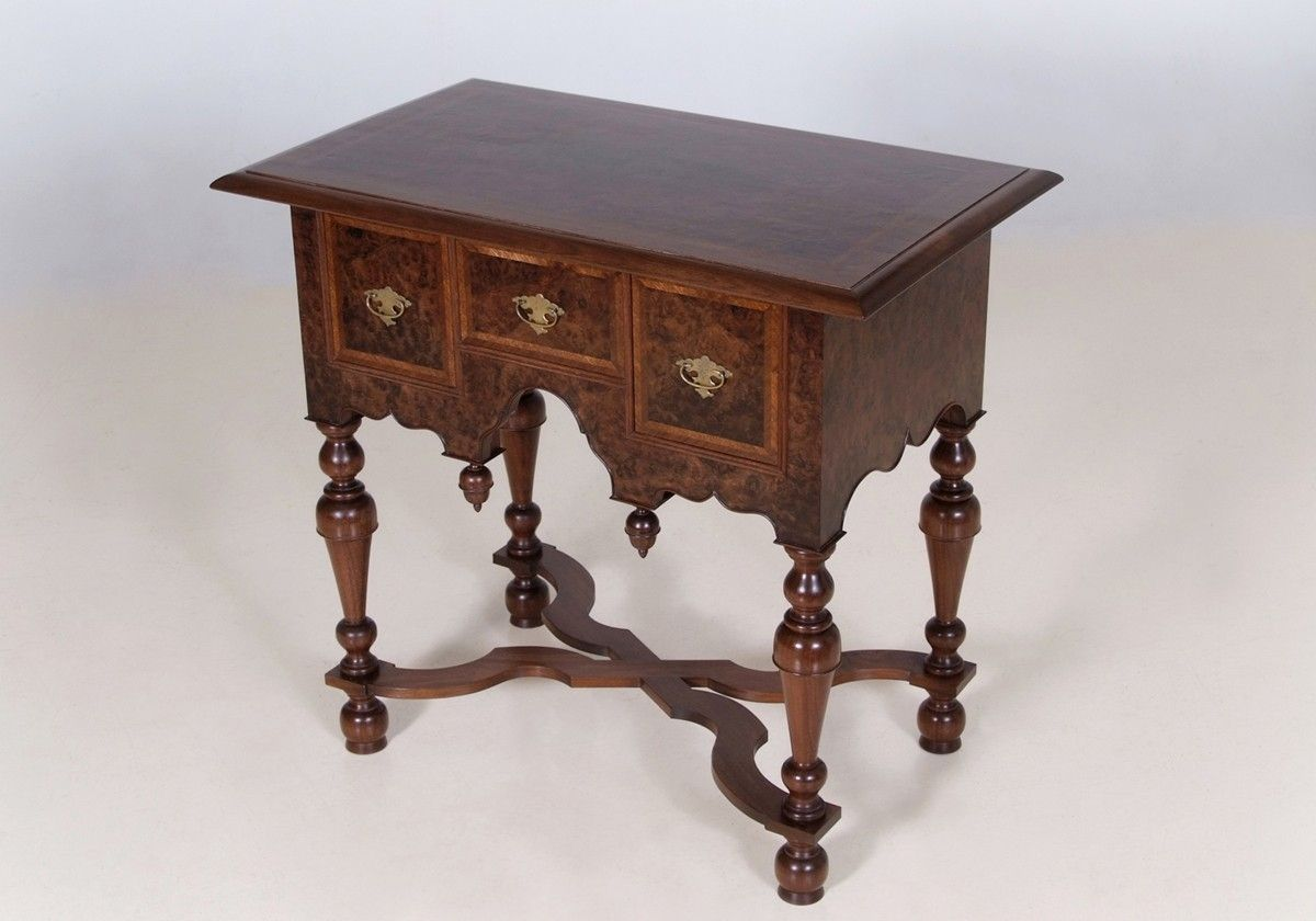 Lowboy Furniture Hand Crafted William And Mary Lowboy By Kauffman Fine