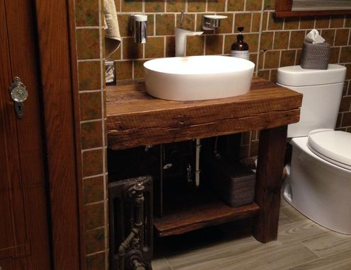 Hand Crafted Rustic Bath Vanity Reclaimed Barnwood By