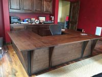 Custom Steel And Walnut Contemporary Desk/ Workstation by ...