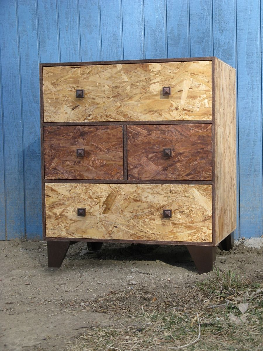 Meuble Steampunk Hand Made Four Drawer Dresser Osb Watco Fine Furniture Oil