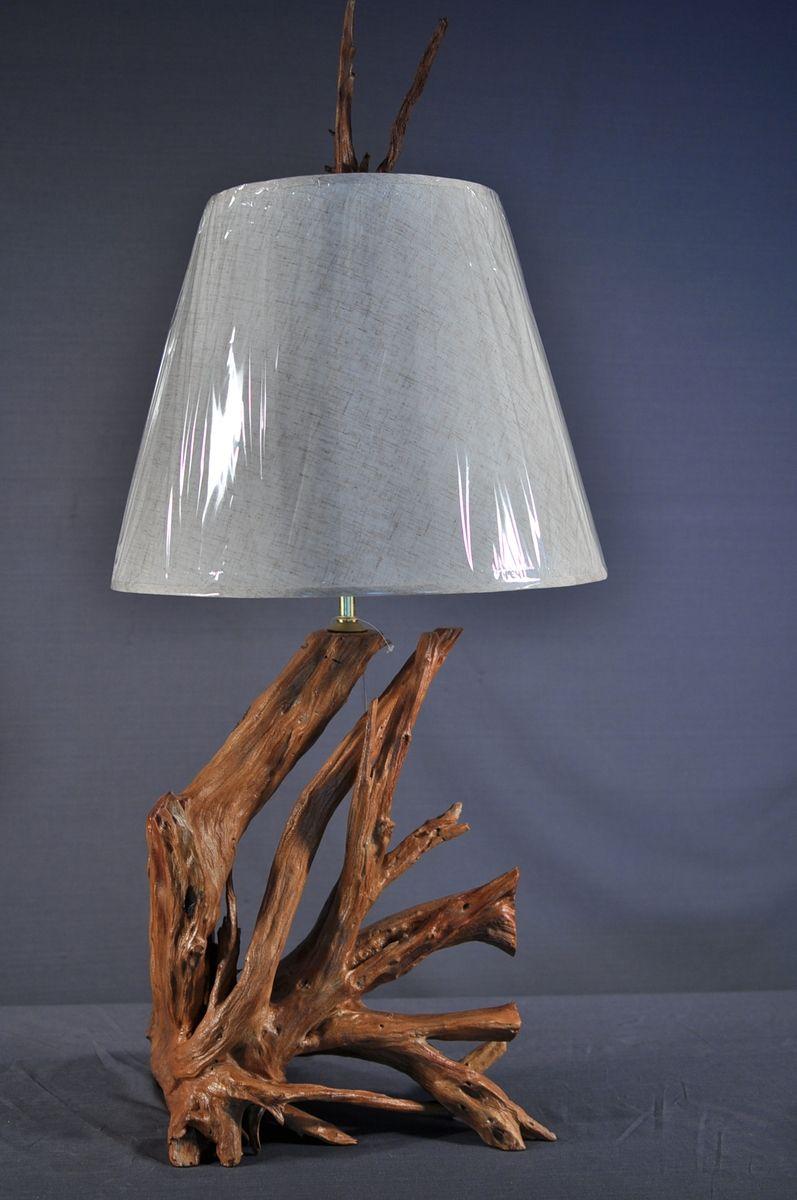 Handmade Driftwood Table Lamp by Driftwood Decor