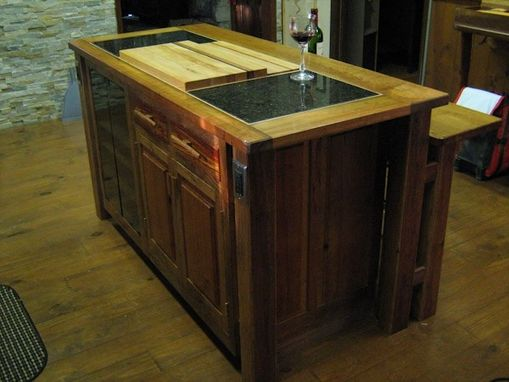 Old Barn Wood Kitchen Island Hand Crafted Kitchen Island Reclaimed Old Oak Barn Wood