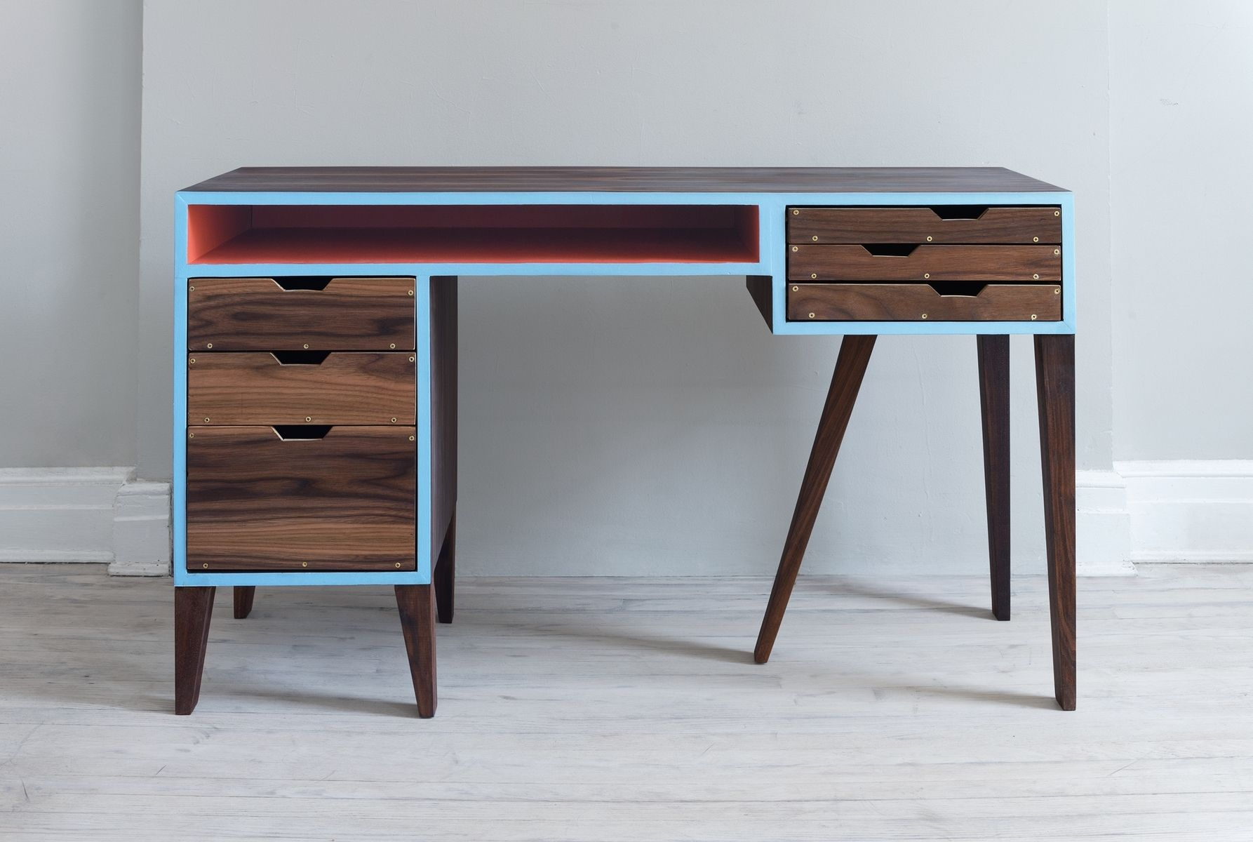 Modern Desks Hand Made Mid Century Modern Desk By Kevin Michael Burns