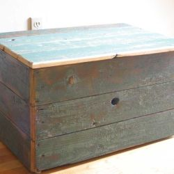 Hand Made Reclaimed Barn Wood Storage Chest by Tim Sway Perspectives