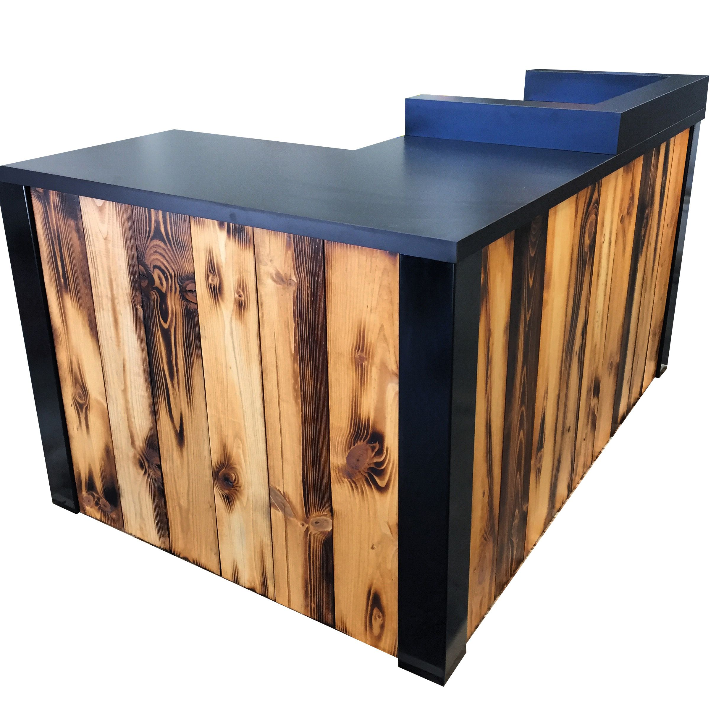 Sale Counter Design Buy A Hand Made 3 Reclaimed Torched Pine Wood L Shaped