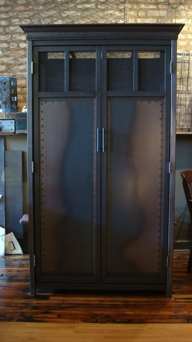 Armoire Plate Custom Made Armoire - Tratitional Design In Steel By