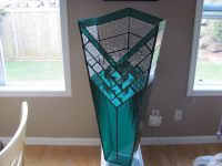 Hand Crafted Stained Glass Decorative Vase by Chapman ...