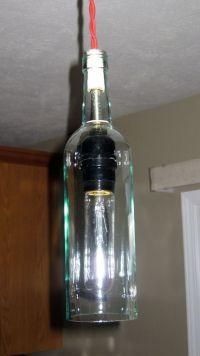 Custom Made Wine Bottle Pendant Light by Milton Douglas ...