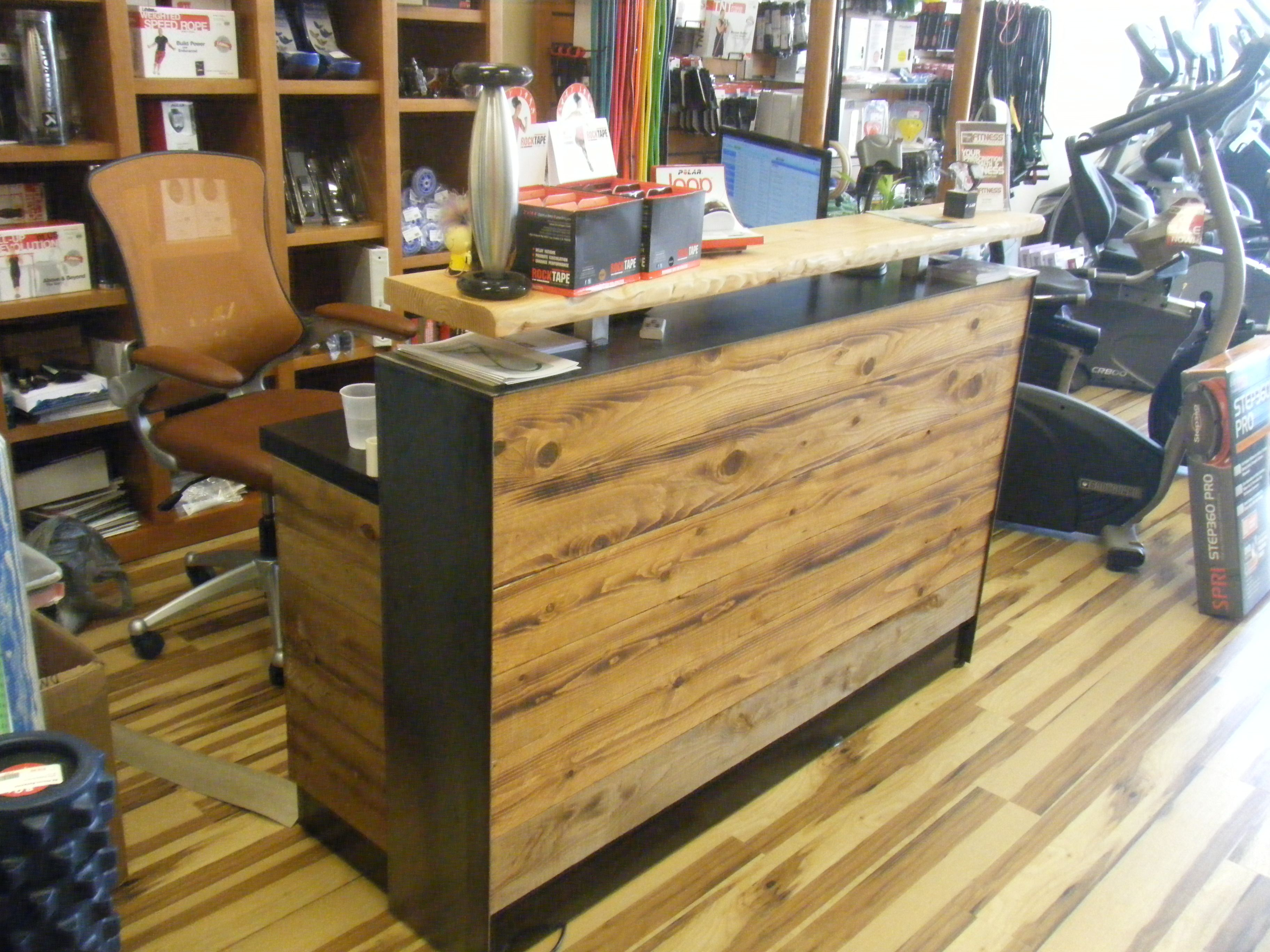 Sale Counter Design Buy A Hand Made 4 Reclaimed Distressed Wood Reception