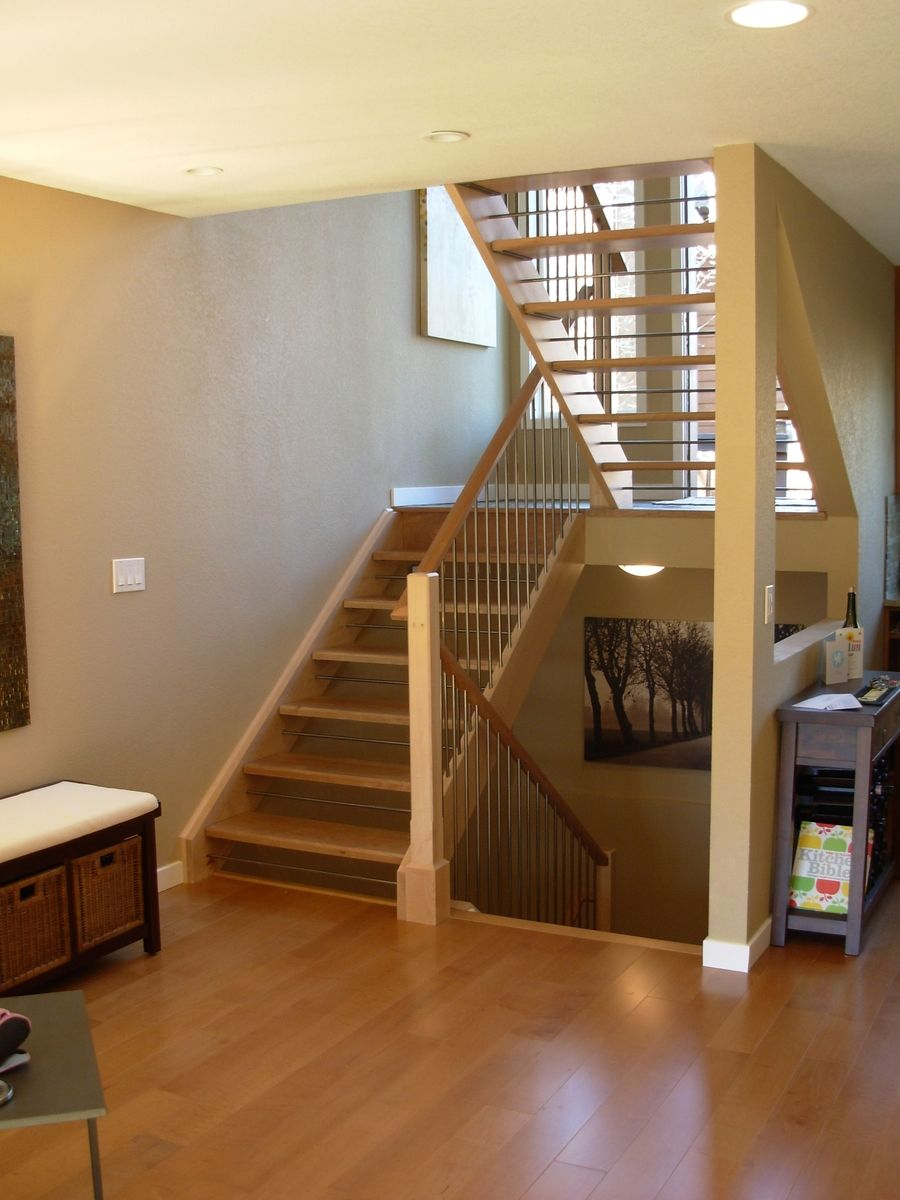 Open Staircase Custom Made Open Staircase By Dancing Grains Woodworks