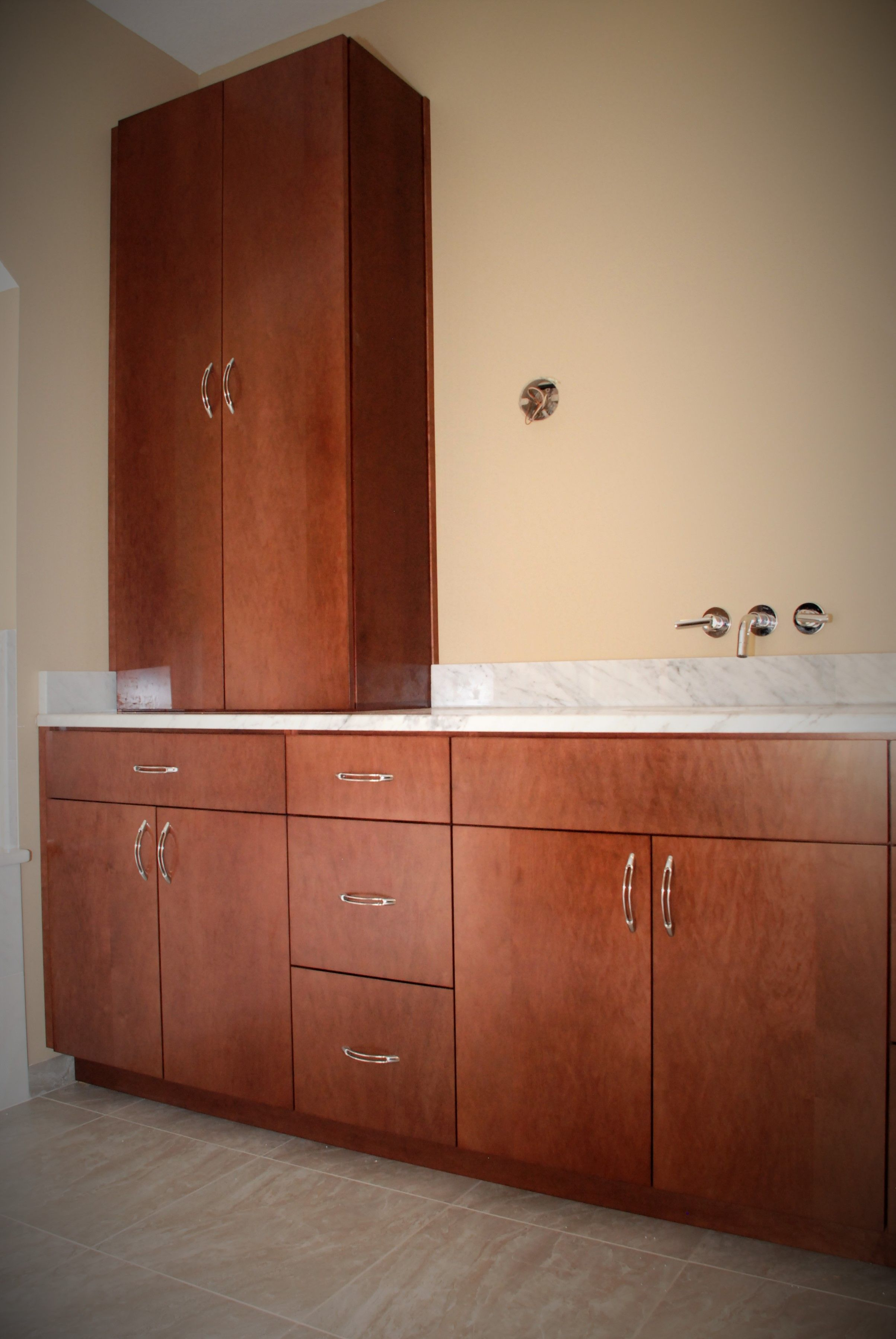 Custom Made Cabinets Hand Made Jacomo Bathroom Vanity And Linen Cabinet By