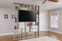 Hand Crafted Lexington Room Divider / Bookshelf / Tv Stand ...