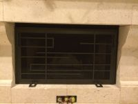 Custom Frank Lloyd Wright Style Fireplace Screen by Iron ...