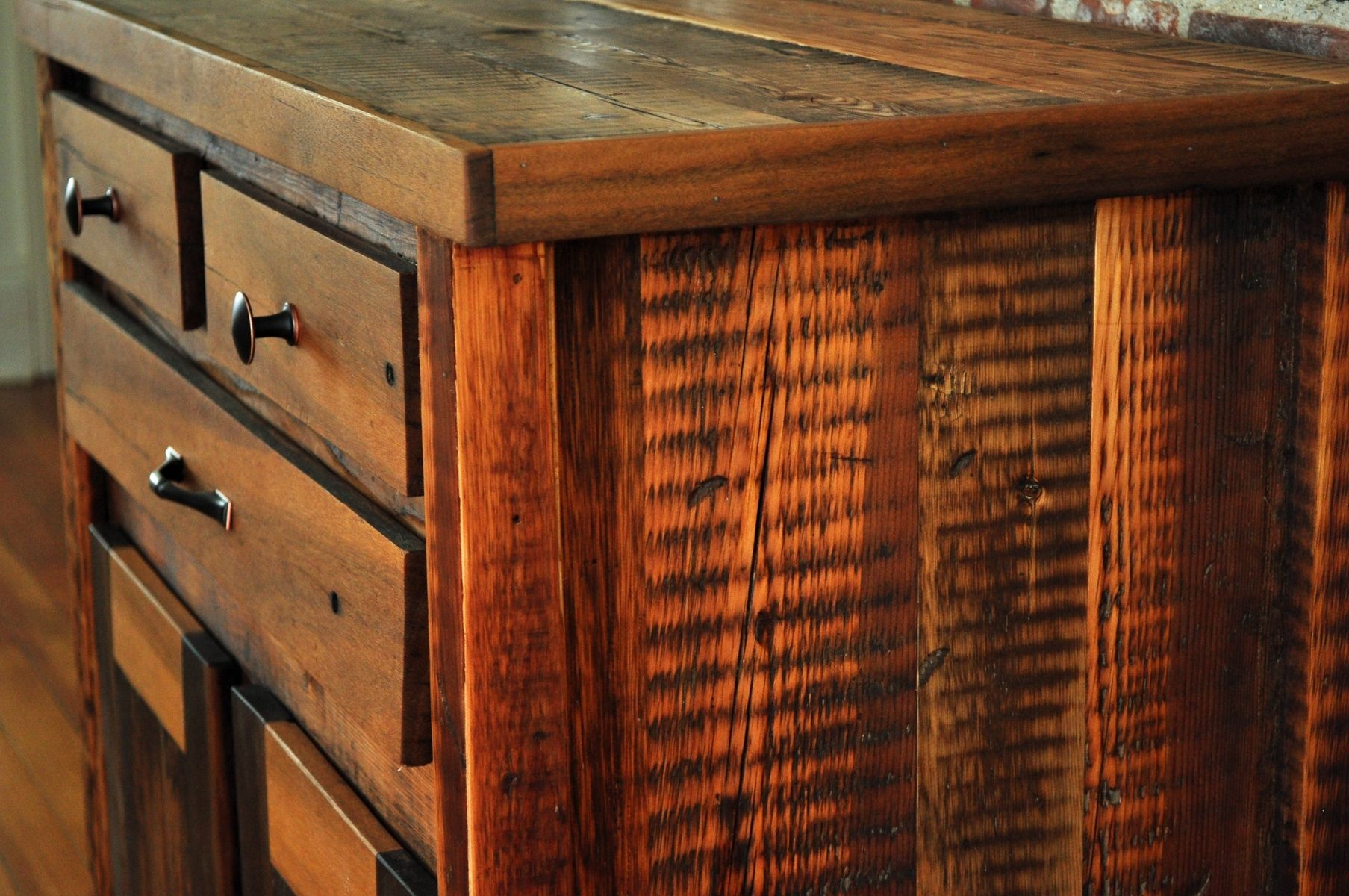 Reclaimed Wood Kitchen Cabinets Custom Reclaimed Wood Foyer Cabinet By Brian Pia Designs