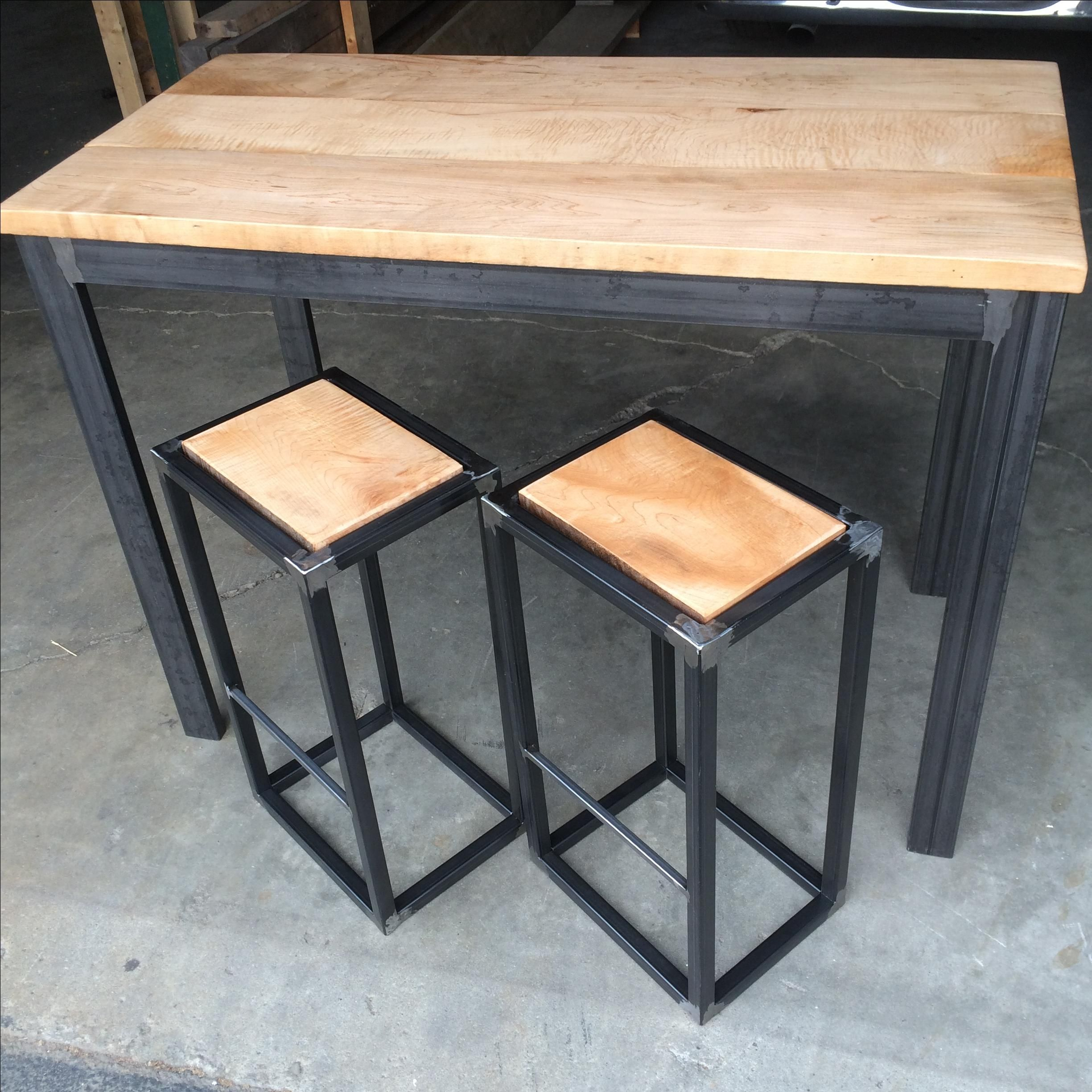 Two Person Dinner Table Custom Modern Industrial Small Two Or Four Person Dining