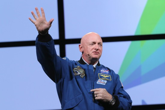 Retired astronaut Mark Kelly amd former congresswoman Gabrielle Giffords share their moving story and inspiration for summoning courage in tough times AMGA Conference, Phoenix, USA - 10 Mar 2018.