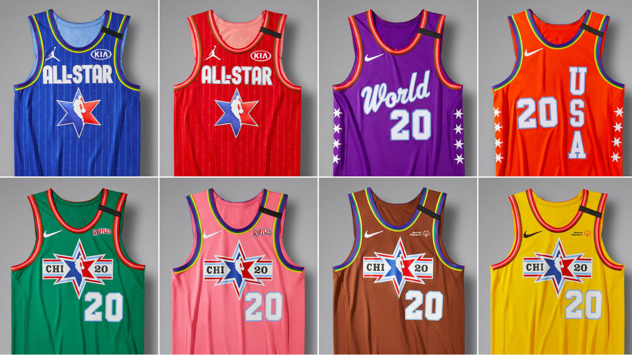 Nba All Star Game 2020 All Star Jerseys Revealed Drawing
