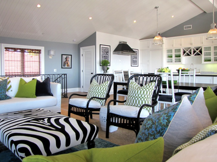 19+ Black and White Living Room Designs, Decorating Ideas Design - black and white living room decor