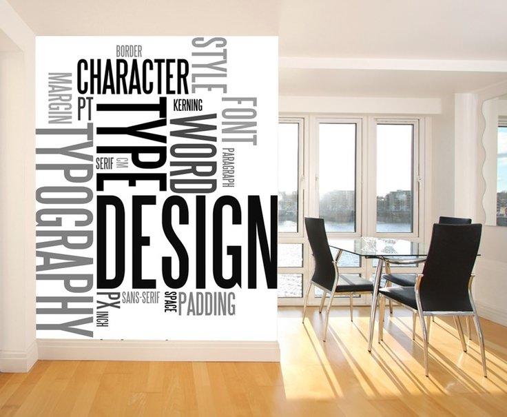 Graphic Designer Quote Wallpaper 21 Typographic Wall Designs Wall Designs Design