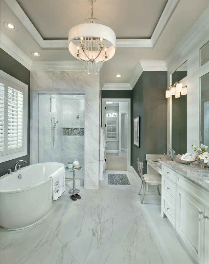Bagno Italian 20+ Bathroom Chandelier Designs, Decorating Ideas | Design
