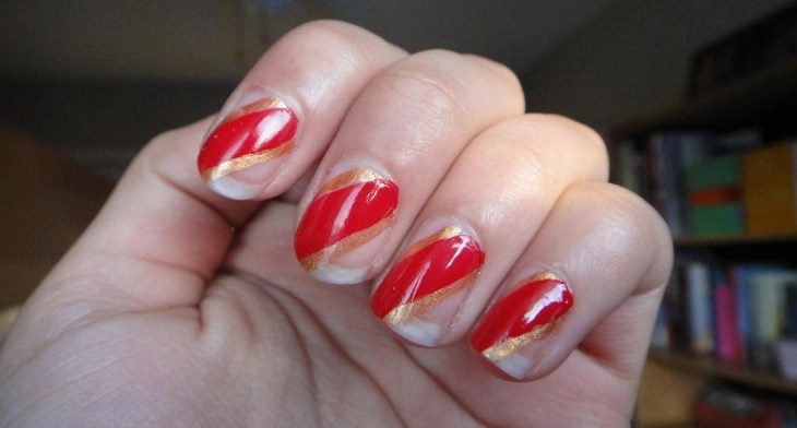 Cozy 26 Red And Gold Nail Art Designs Ideas Design Trends Premium