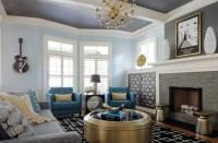 20+ Blue Living Room Designs, Decorating Ideas | Design ...