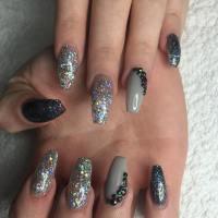 25+ Glitter Acrylic Nail Art Designs , Ideas   Design ...