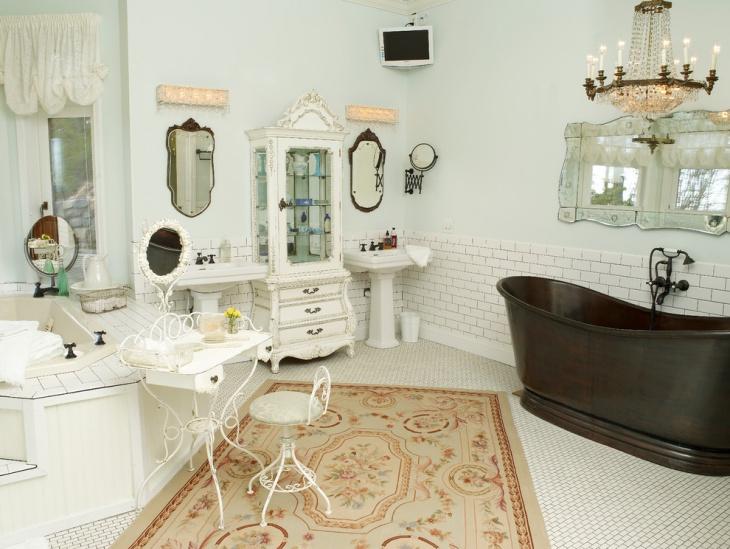 20+ Shabby Chic Bathroom Designs, Decorating Ideas Design Trends - shabby chic bathroom ideas