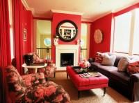 25+ Red Living Room Designs, Decorating Ideas | Design ...