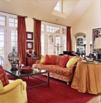 25+ Red Living Room Designs, Decorating Ideas   Design ...